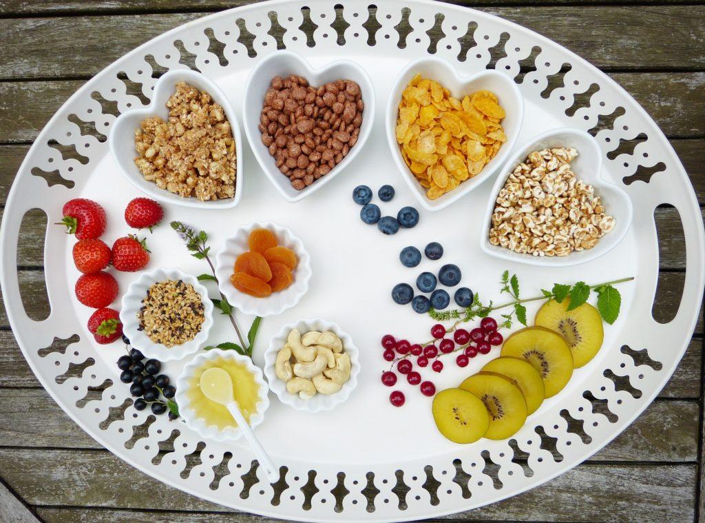 Auswahl veganes Essen